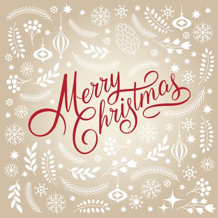 Merry Christmas Lettering Stock Illustratie