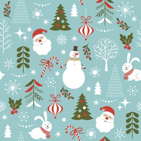 seamless Christmas pattern  イラスト・ベクター素材