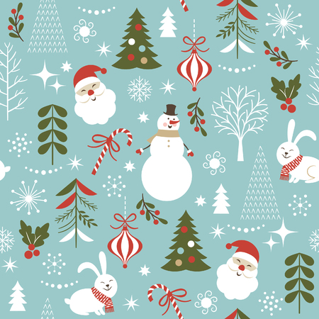 seamless Christmas pattern Stock Illustratie