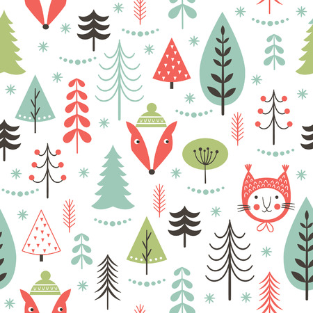 year curve: seamless Christmas pattern Illustration