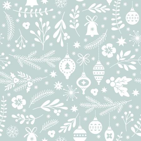 seamless Christmas pattern Stock Illustratie