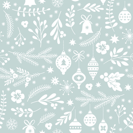 seamless Christmas pattern 矢量图像