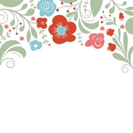 place for the text: floral design, place for text Illustration