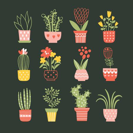bloemen in vazen. verzameling