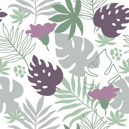 열대 잎 원활한 패턴 일러스트
