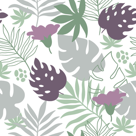 frond: tropical leaves seamless pattern