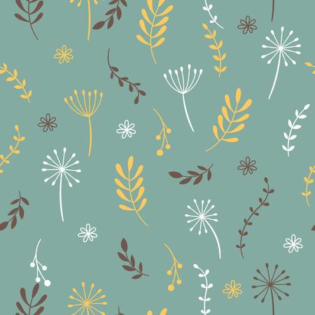 beautiful: Seamless pattern, flowers Illustration