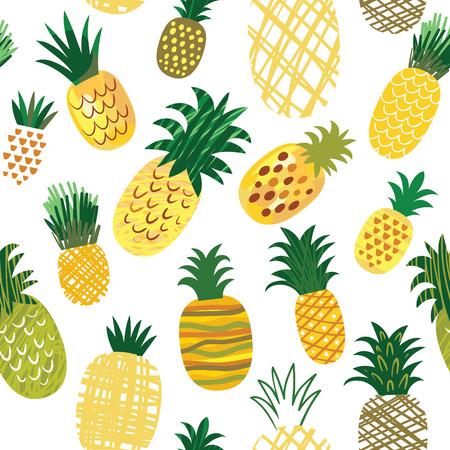 naadloze patroon met ananas