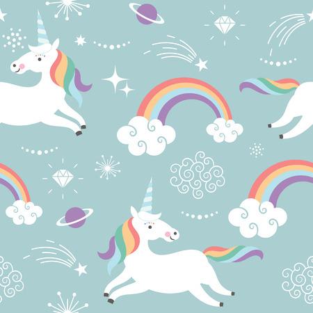 Unicorn Pattern Art Print Stock Photo