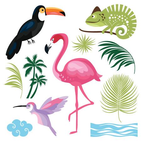 tropische Inzameling Stock Illustratie