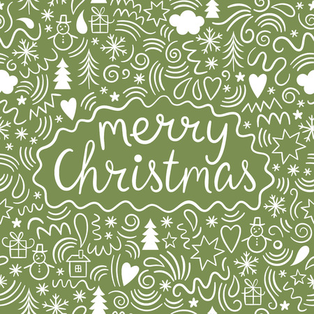 illustration de Noël, Joyeux Noël lettrage