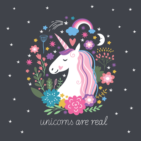 Unicorn are real, fantasy illustration
