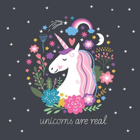 Unicorn sont réels, imaginaire illustration Banque d'images - 70049936