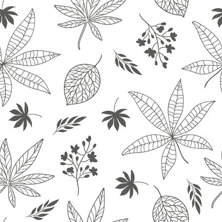 fall leaves: seamless pattern