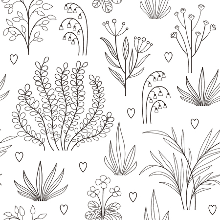 leaf: Seamless floral pattern