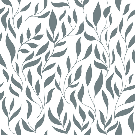 white background: seamless vector floral pattern