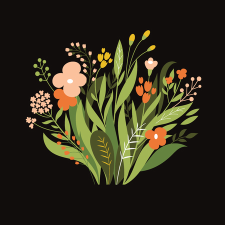 isolated: Floral illustration , bouquet of flowers