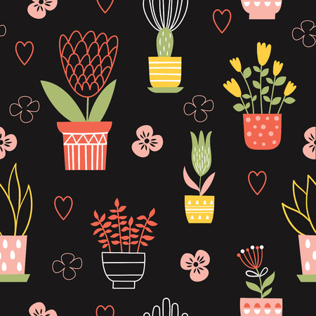 romance: seamless vector floral pattern