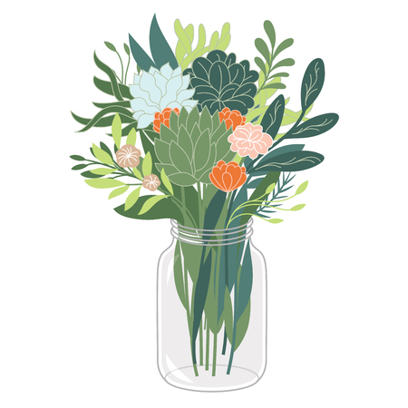 greeting season: bouquet of flowers Illustration