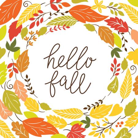 hello autumn Vectores