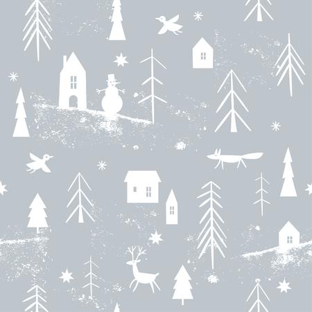 크리스마스 패턴 일러스트