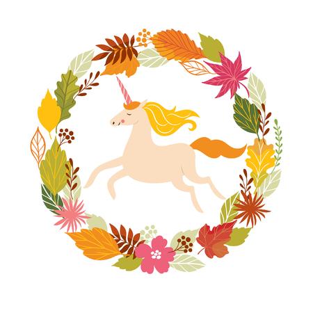 Hello fall, autumn unicorn