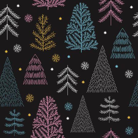 Seamless christmas parrern Vektorové ilustrace