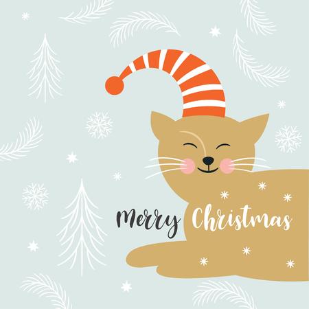 christmas illustration, greeting card Ilustração