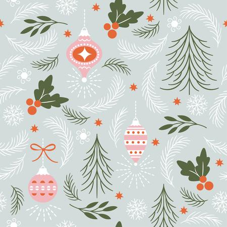 Ilustración de vector de patrones de Navidad sin fisuras.