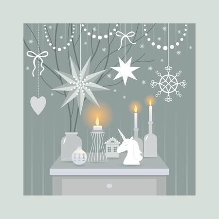 クリスマス装飾、ベクトル イラスト