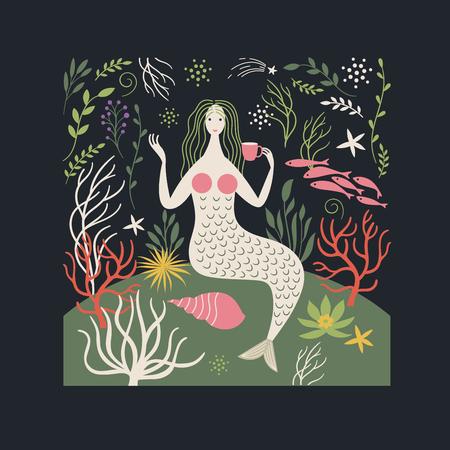 Magic Mermaid Illustration