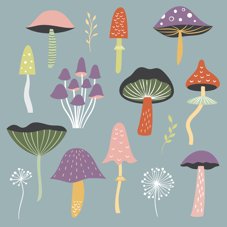 whimsical mushrooms