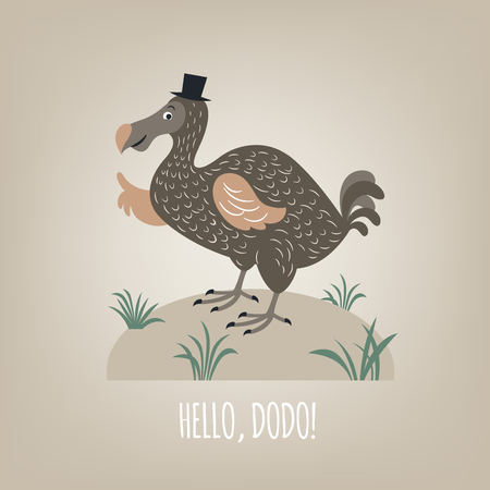 Dodo bird, vector illustration