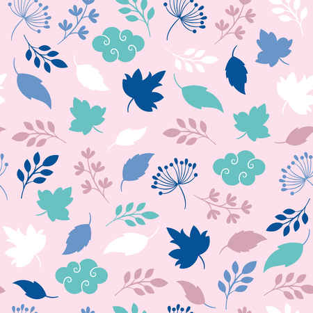 seamless pattern, leaves and branches