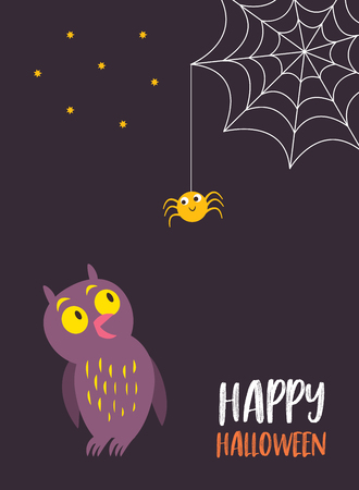Vector illustration for Halloween card, invitation or Halloween Party