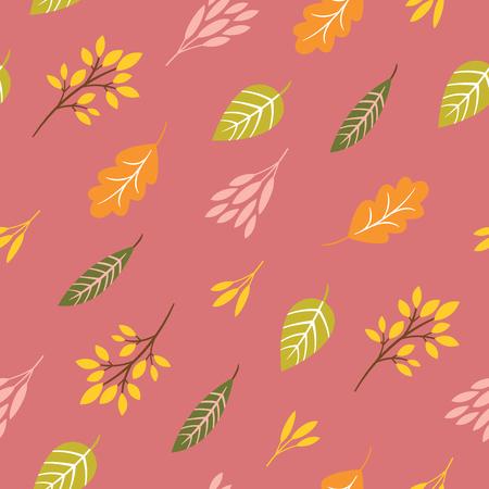 patrón de otoño sin fisuras, hojas de otoño