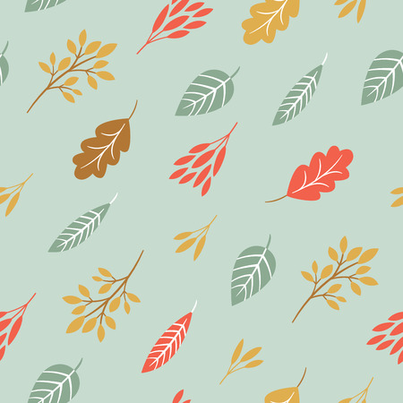 seamless pattern, fall leaves Çizim