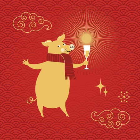 Pig is a symbol of the 2019 Chinese New Year