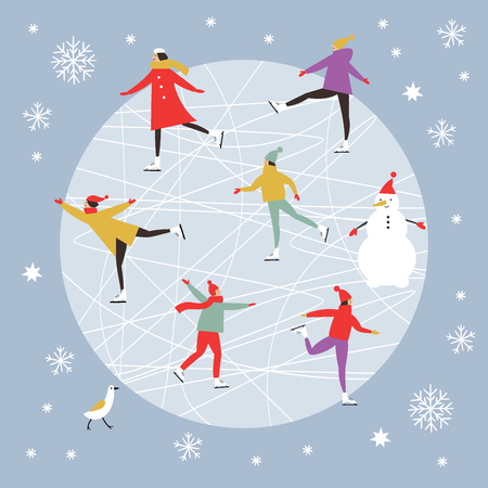 Merry Christmas or Happy New Year's card design Ilustracja