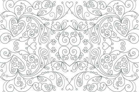 Beautiful pattern with floral decorative elements. Seamless abstract background with repeating elements