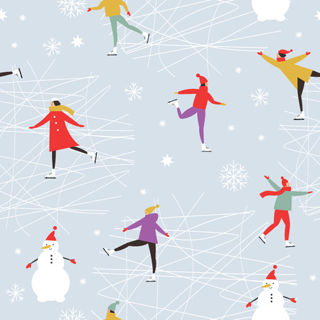 Merry Christmas or Happy New Year's Vector Pattern Banque d'images - 112512944