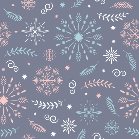 seamless christmas and new year's pattern