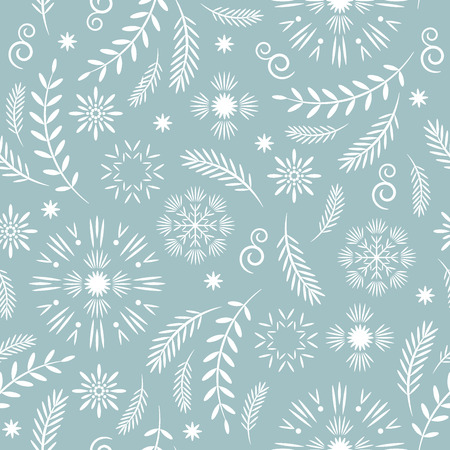 seamless christmas and new years pattern