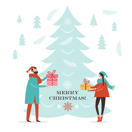 Christmas card, New Year Greeting card