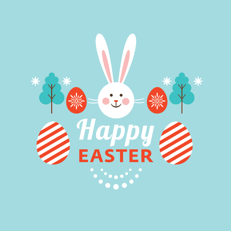 Happy Easter card, vector elements for your design