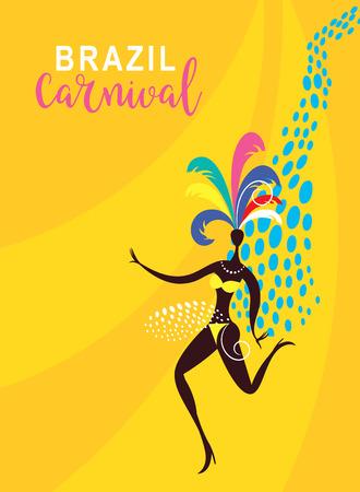Traditional Brazilian Carnival, Festa Junina, Carnaval night party poster design Illustration
