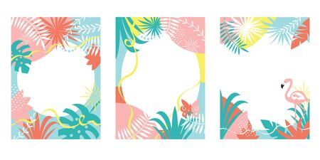Set of abstract background designs, summer sale, summer festival, vector illustration , collection of vertical banners