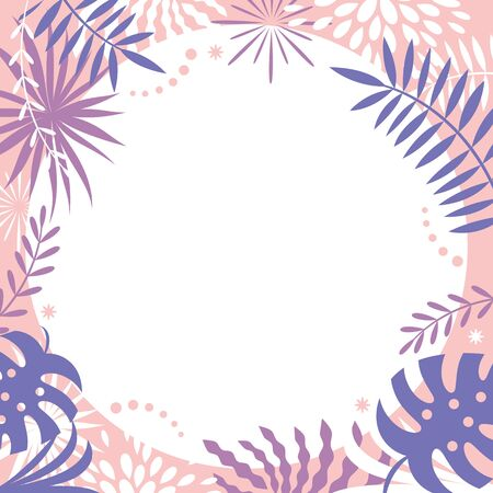 abstract background design, tropic leaves ,frame for your text 일러스트