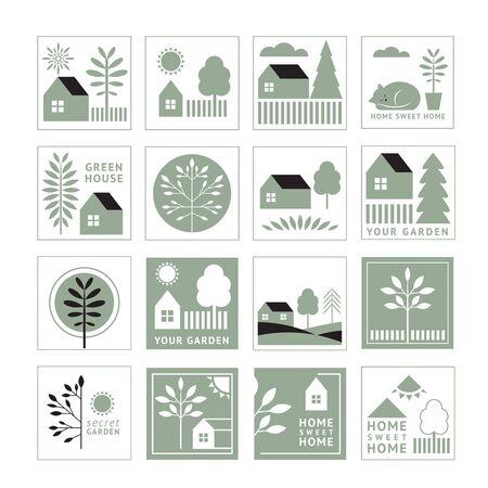 Home sweet home ,premade logos set
