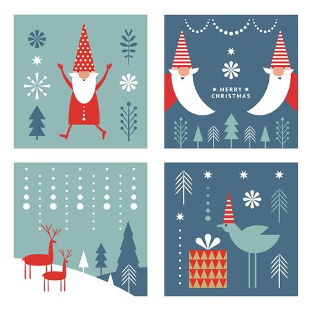 set of christmas cards, banners, label, tags, square Stock fotó - 131896888
